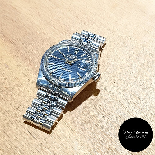 Rolex Oyster Perpetual Black Tapestry 36mm Datejust REF: 16030 (2)