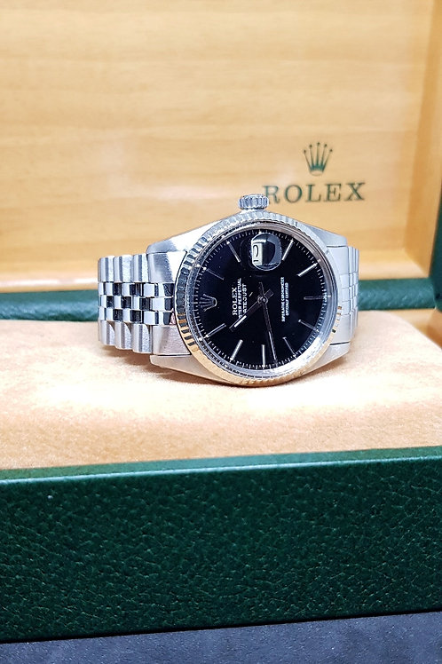 Rolex Oyster Perpetual Black Datejust REF: 16014