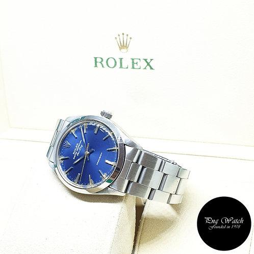 Rolex Oyster Perpetual 34mm Tritium Blue Air-King REF: 5500