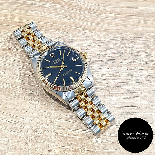 Rolex Oyster Perpetual 18K Half Gold Black Indexes Datejust REF: 6827 (2)