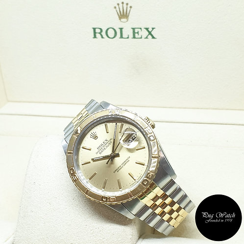 "Rolex OP 18K Half Gold Champagne ""Turn-O-Graph"" Datejust REF: 16263"