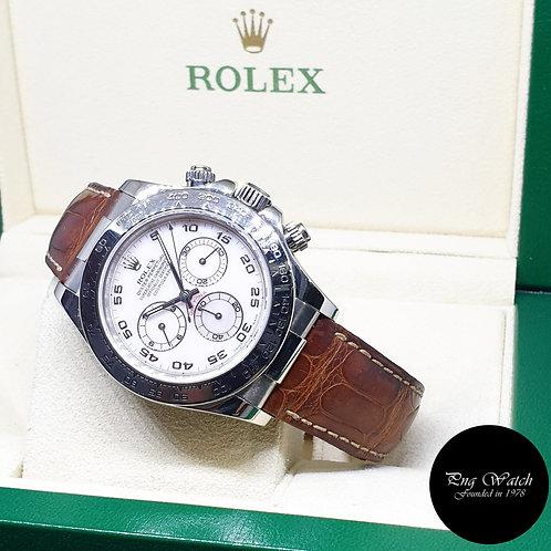 Rolex Oyster Perpetual 18K White Gold MOP Arabic Cosmograph Daytona REF: 116519