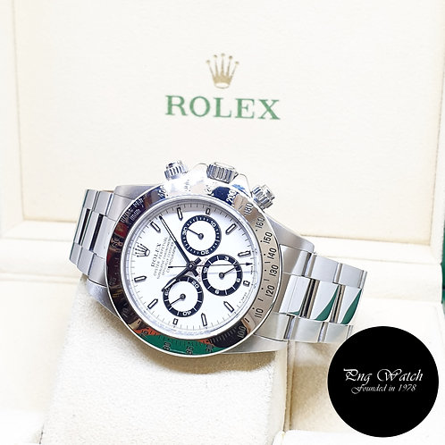 "Rolex Oyster Perpetual 40mm ""Zenith Mvt"" White Daytona REF: 16520 (U Series)"