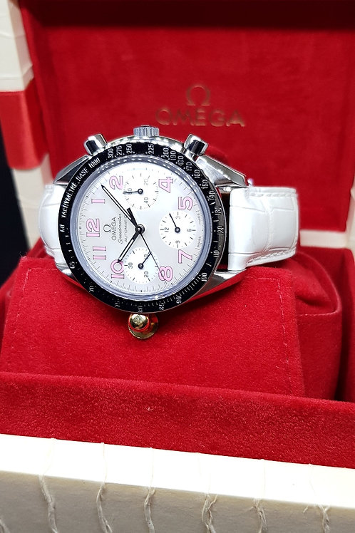 Omega Speedmaster Chronograph with White MOP REF: 3834.74.34