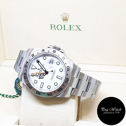 Rolex Oyster Perpetual 42mm White Explorer 2 REF: 216570 (2021)
