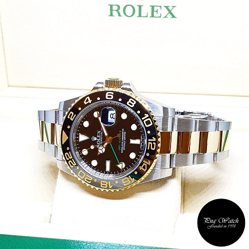 Rolex 18K Half Gold Ceramic Black GMT Master 2 REF: 116713LN