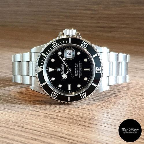 Rolex Tritium Black Oyster Perpetual Steel Submariner Date REF: 16800 (2)