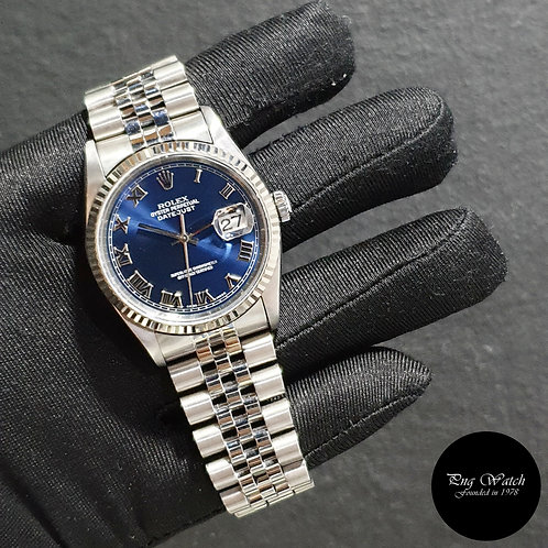 Rolex Oyster Perpetual Blue Roman Datejust REF: 16234 (U)(2)