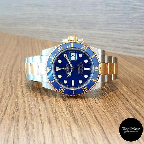 Rolex Oyster Perpetual 18K Half Gold Ceramic Blue Submariner REF: 116613LB (2)