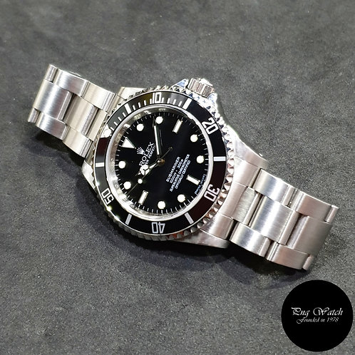 Rolex Oyster Perpetual 4 Liner Steel No Date Black Submariner REF: 14060M (M)(2)