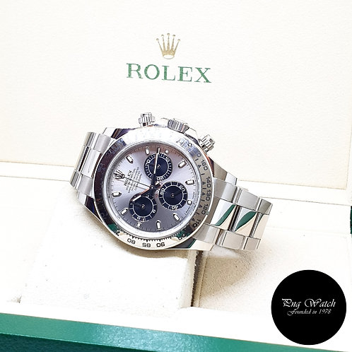 "Rolex Perpetual 18K White Gold Steel Dial ""PANDA"" Daytona REF: 116509 (2020)"
