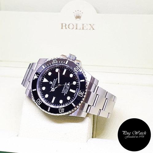 Rolex Oyster Perpetual Steel Ceramic No Date Black Submariner REF: 114060 (2016)