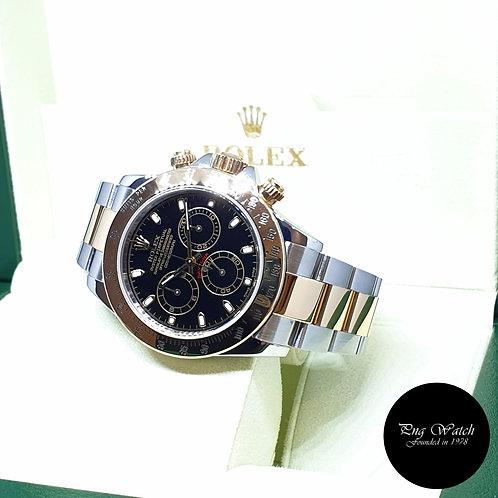 Rolex Oyster Perpetual 18K Half Gold Black Indexes Daytona REF: 116523 (P)