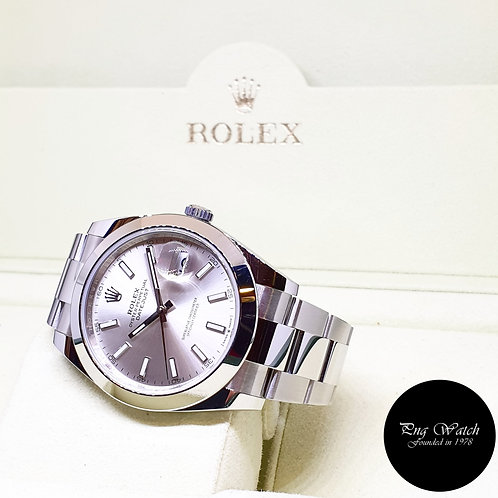 Rolex Oyster Perpetual 41mm Silver Indexes Datejust REF: 126300