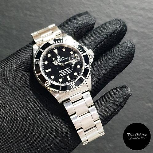 Rolex 40mm Perpetual Discontinued Tritium Date Black Submariner REF: 16610 (2)