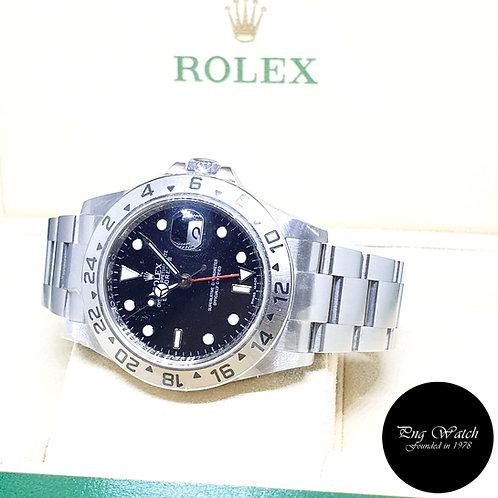 Rolex Oyster Perpetual Black Explorer 2 REF: 16570 (V Series)(Rehaut Ring)