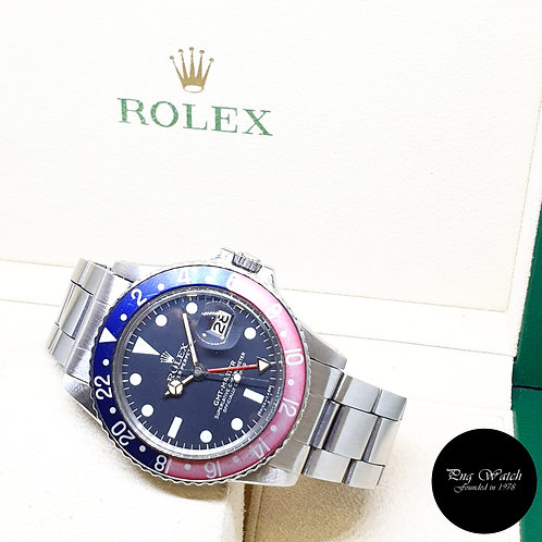 """Rolex Oyster Perpetual Stainless Steel """"PEPSI"""" Black GMT Master REF: 1675 (3.75)"""