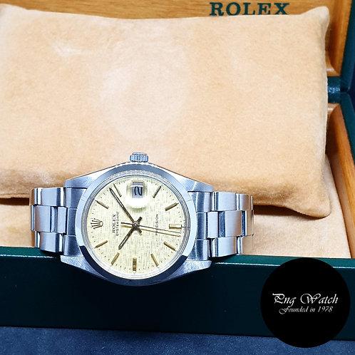 Rolex 34mm Steel Gold Textured Precision Oysterdate REF: 6694