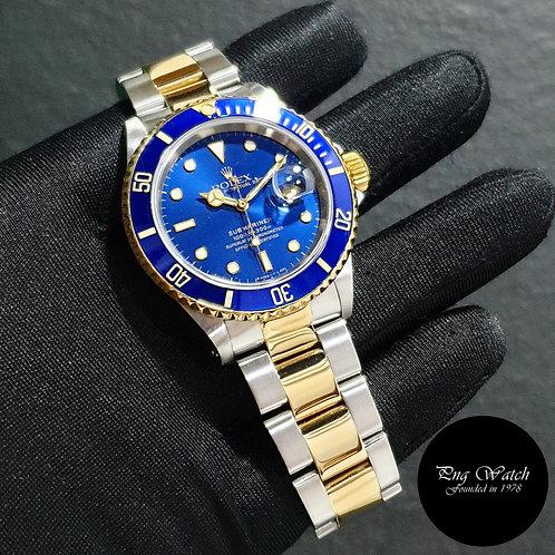 Rolex Perpetual Tritium 18K Half Yellow Gold Blue Submariner Date REF: 16613 (2)