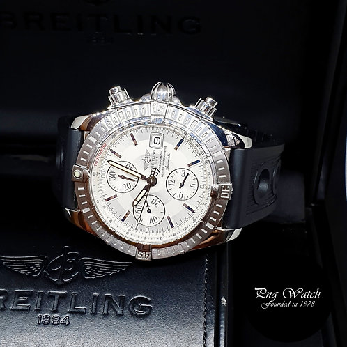 Breitling 44mm Silver Chronomat Evolution Chronograph REF: A13356