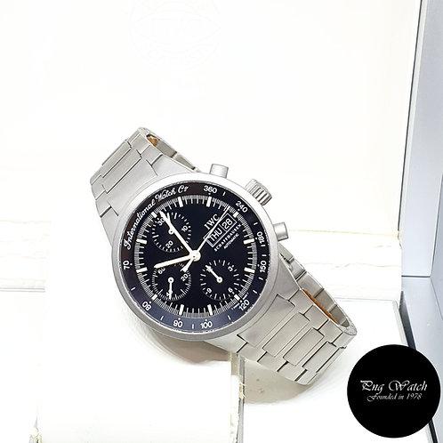 IWC Black Tritium Titanium Flieger GST Chronograph Watch REF: 3707