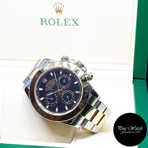 Rolex Oyster Perpetual 18K Half Gold Black Index Daytona REF: 116523