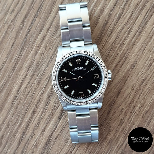 Rolex 31mm Black Oyster Perpetual REF: 77080 (2)
