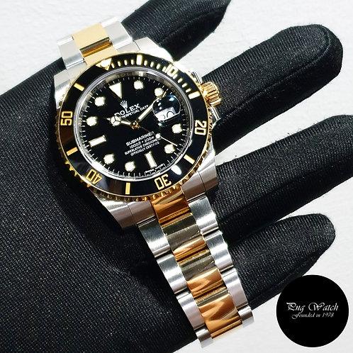 Rolex Ceramic 18K Half Yellow Gold Black Submariner Date REF: 116613LN (2)