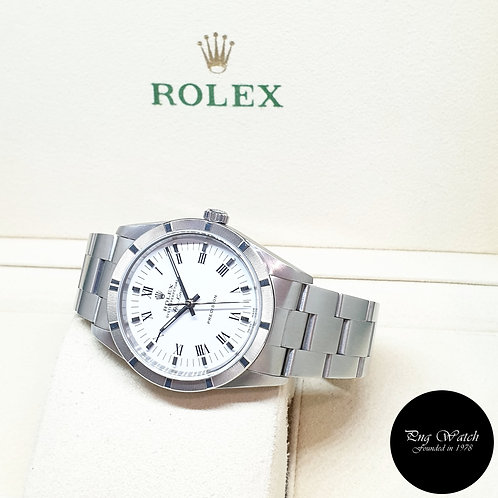 Rolex Oyster Perpetual White Roman Air-King REF: 14010M