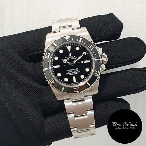 Rolex Oyster Perpetual Ceramic No Date Black Submariner REF: 114060 (2)