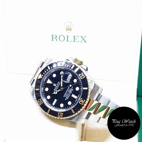 Rolex Ceramic 18K Half Gold Black Submariner Date REF: 116613LN (2016)