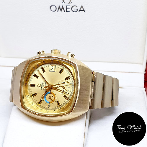 "Vintage 1970s Omega Champagne Gold Filled ""Jedi"" Seamaster Chrono REF: 176.005"
