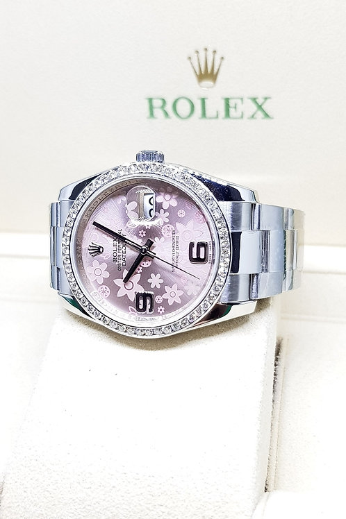 Rolex Oyster Perpetual Pink Flora Datejust REF: 116200