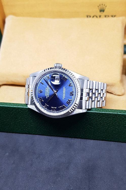 Rolex Oyster Perpetual Blue Roman Datejust REF: 16234