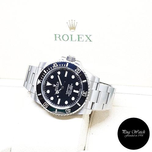 Rolex Oyster Perpetual 40mm No Date Ceramic Black Submariner REF: 114060 (2017)