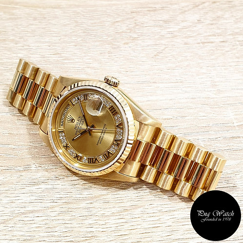 Rolex Oyster Perpetual 18K Yellow Gold Myriad Diamonds Day-Date REF: 18238 (2)