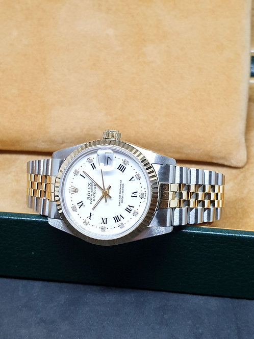 Rolex 18K Half Gold Roman Diamonds Datejust REF: 68273