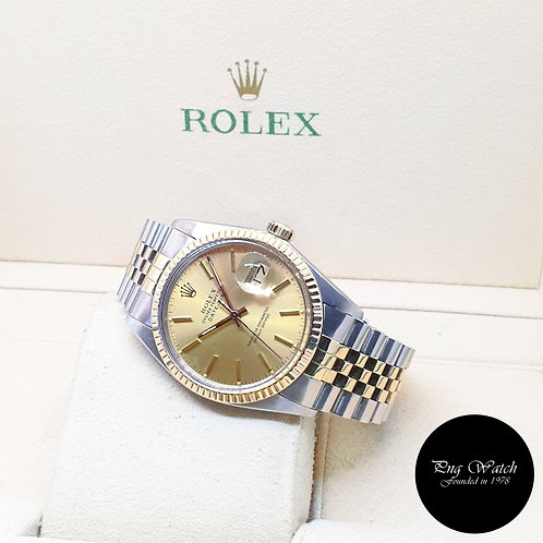 Rolex Oyster Perpetual Champagne Indexes Datejust REF: 16013 (1982)