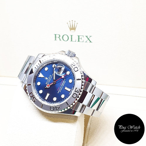 Rolex Oyster Perpetual Blue 40mm Yachtmaster REF: 116622 (2016)