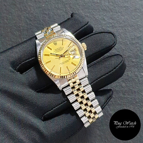 Rolex Oyster Perpetual Champagne Indexes Datejust REF: 16013 (82)(2)