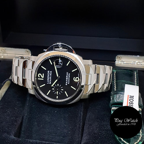 Panerai 40mm Black Dial Luminor Marina Wristwatch (PAM50)
