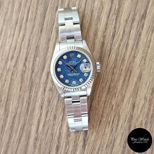 Rolex Oyster Perpetual 10PT Diamonds Blue Sodalite Datejust REF: 79174 (A)(2)