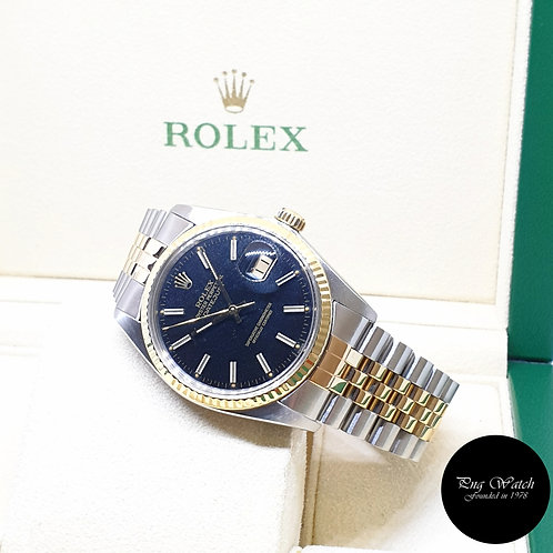 Rolex Oyster Perpetual Black Indexes Datejust REF: 16013 (1983)