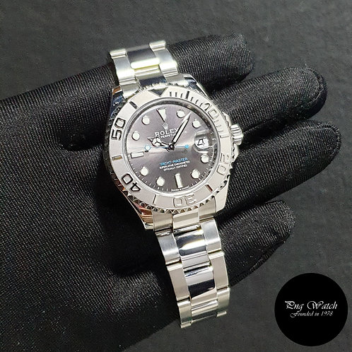 Rolex Oyster Perpetual Rhodium 37mm Yachtmaster REF: 268622 (2017)(2)