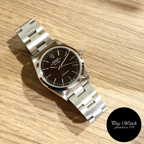 Rolex Oyster Perpetual 34mm Tritium Black Air-King REF: 14000 (2)