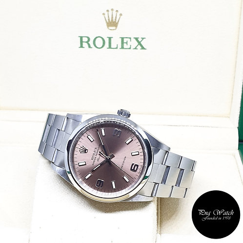 Rolex Oyster Perpetual 34mm Champagne Brown  Air-King REF: 14000M