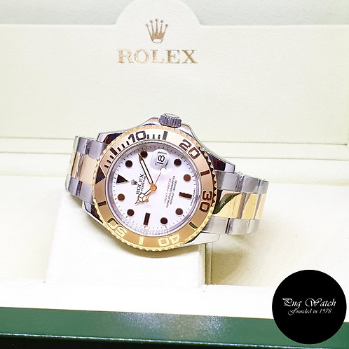 Rolex Oyster Perpetual 18K Half Gold White 40mm Yachtmaster REF: 16623 (G)