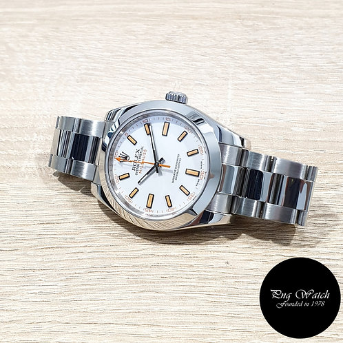 Rolex Oyster Perpetual White Milgauss REF: 116400 (V)(2)