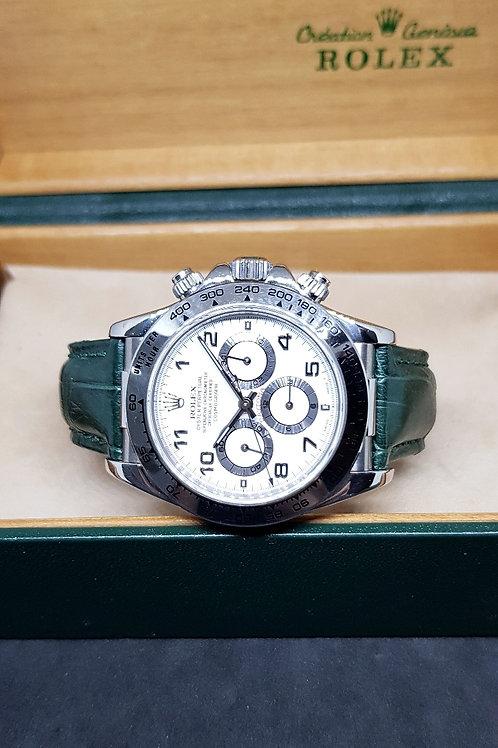 Rolex Oyster Perpetual 18K WG Cosmograph Zenith Daytona REF: 16519