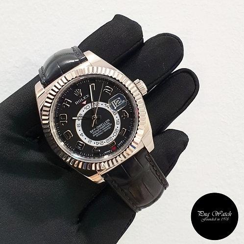 Rolex Oyster Perpetual 18K Full White Gold Black Sky Dweller REF: 326139 (2)